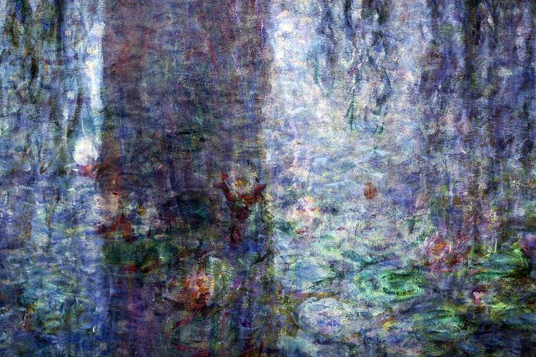 Monet, Le Ninfee (particolare). Parigi, Orangerie