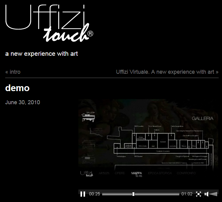 Link to Uffizi Touch Demo